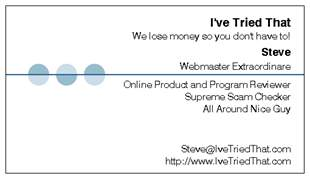 Steve's Business Card