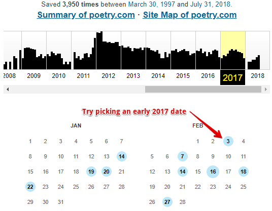 How to find missing poems
