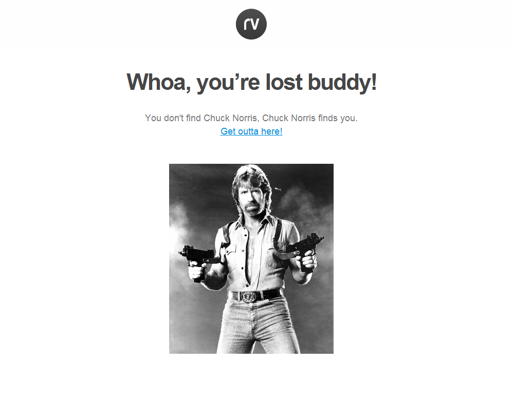Chuck Norris 404 page