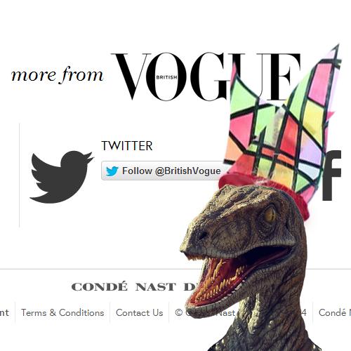 Vogue's Velociraptor