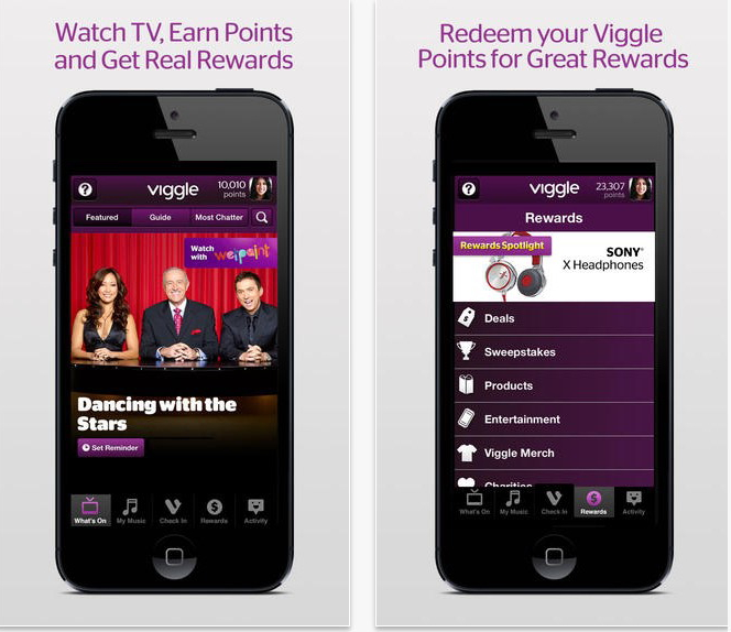 Viggle screen shots