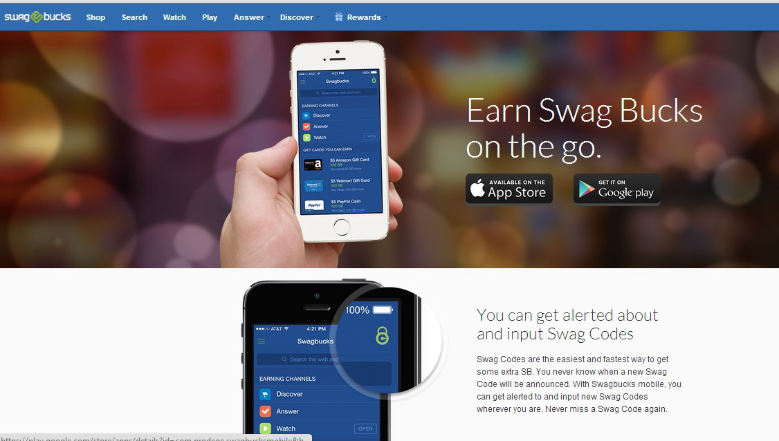 Swagbucks mobile app