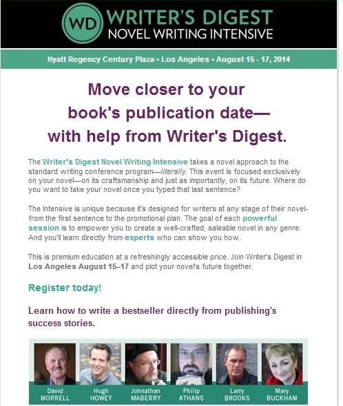 writer landing page