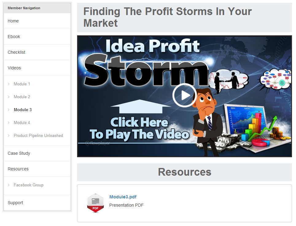 Idea Profit Storm Members Area