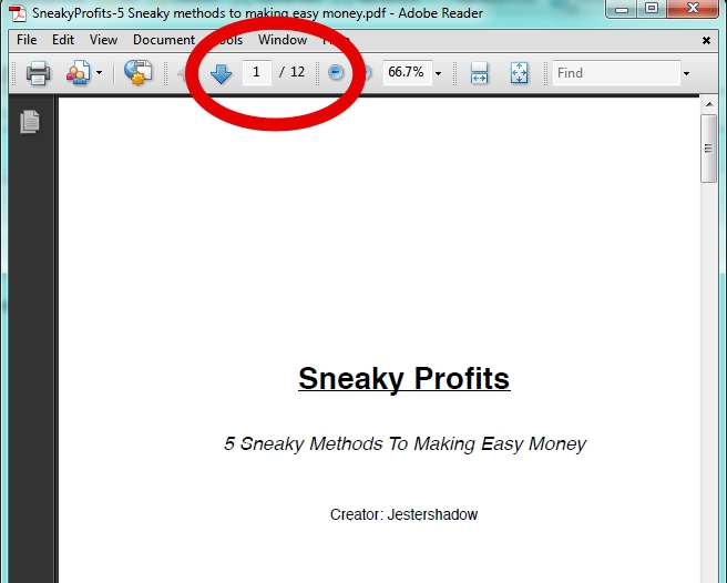 Sneaky Profits Page Count