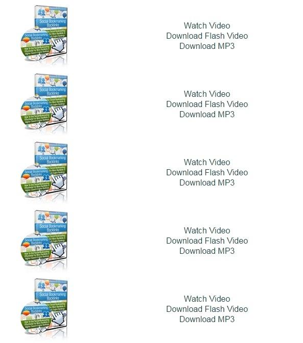 Social Bookmarking Backlinks videos