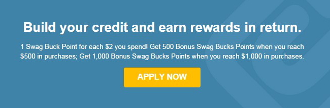 Swagbucks secured credit card