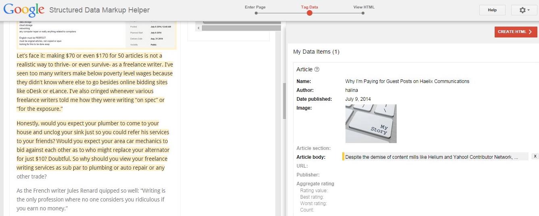 google markup tool