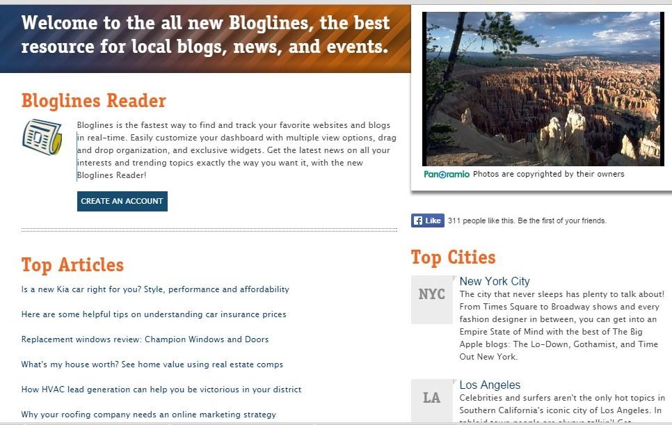 bloglines reader