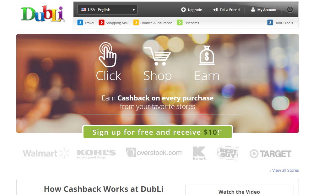 DubLi cashback mall
