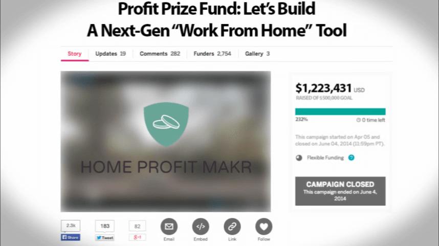 Home Profit Makr crowdfunding