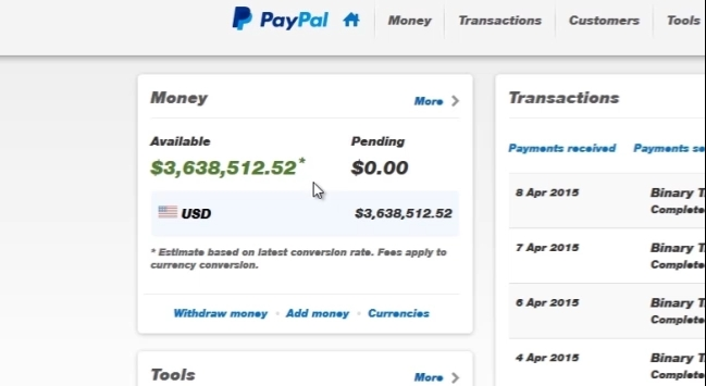 untraceable trader paypal
