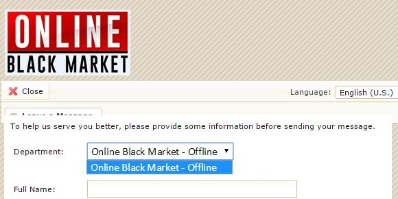 Online Black Market: permanently offline