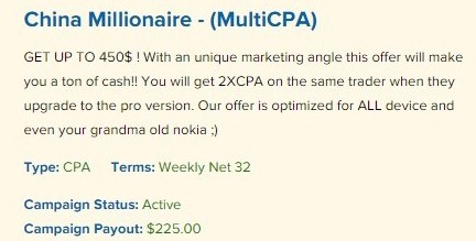 china millionaire clicksure