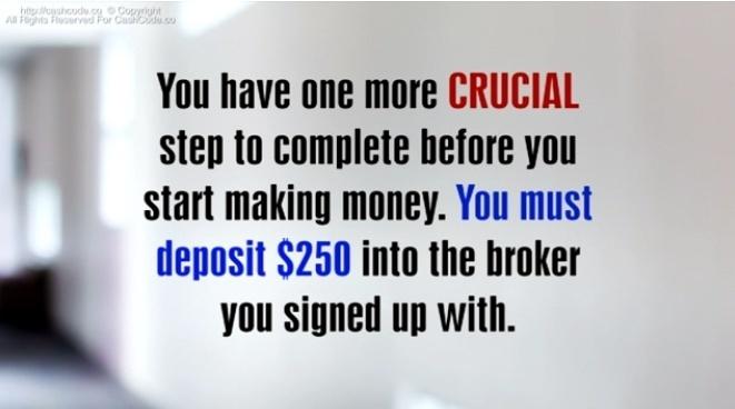 Cash Code deposit