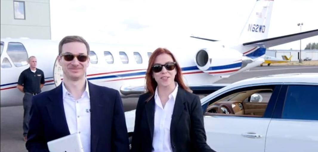Fast Cash private jet and bentley