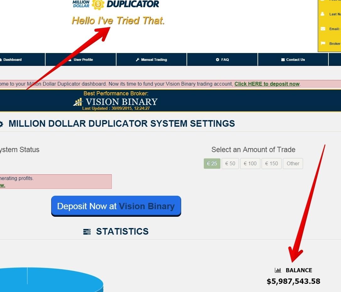 Million Dollar Duplicate easy to fake
