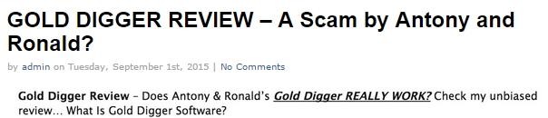gold digger review