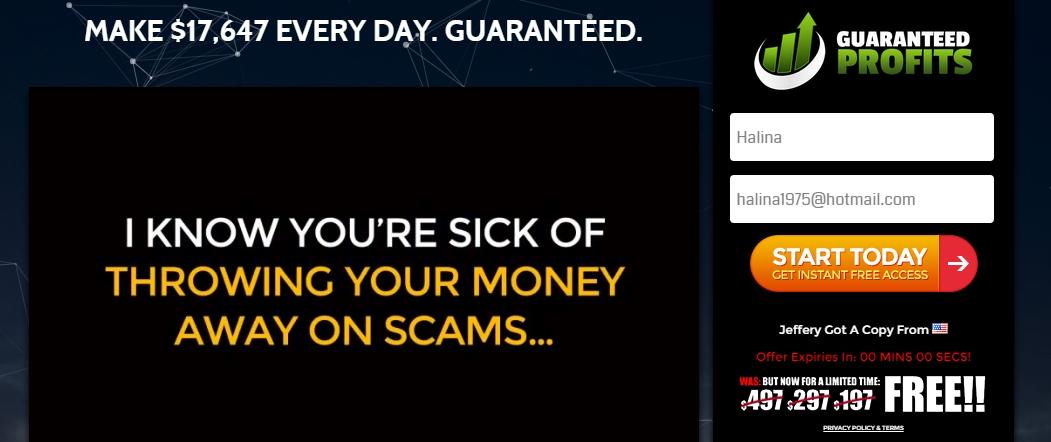 guaranteed profits