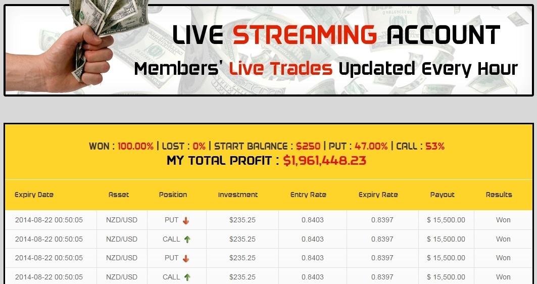 18 minutes live trades