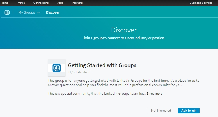 Discover new groups