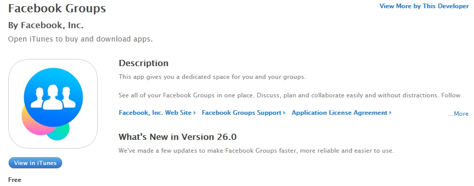 Facebook Groups on the App Store
