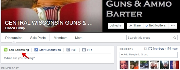 Facebook group CENTRAL WISCONSIN GUNS & AMMO BARTER