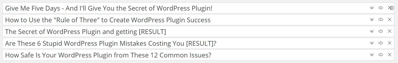 WP Blog Rocket title examples