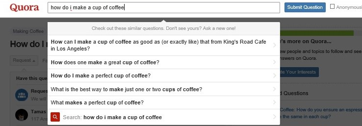 quora coffee chat