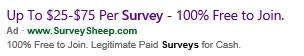 survey sites - Bing