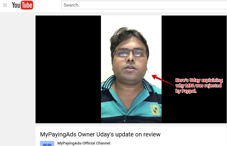 MyPayingAds Owner Uday