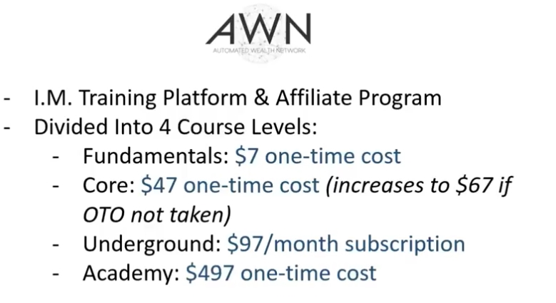affiliate products costs