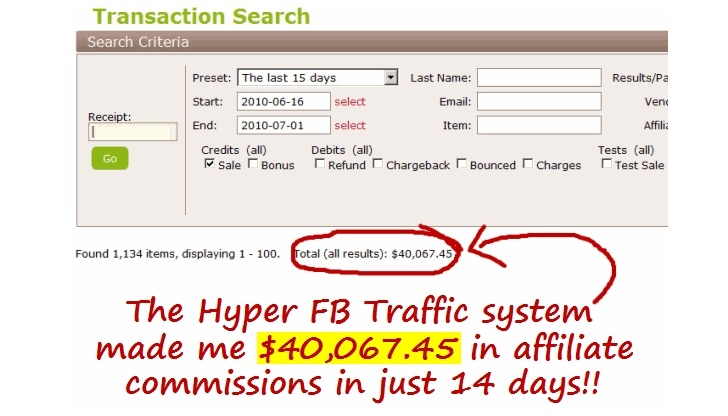 Hyper FB Traffic earnings