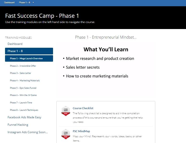 Fast success camp 2