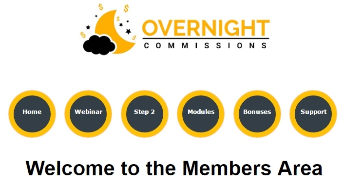 overnight commissions members area