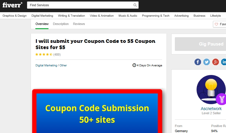 Submit coupon codes