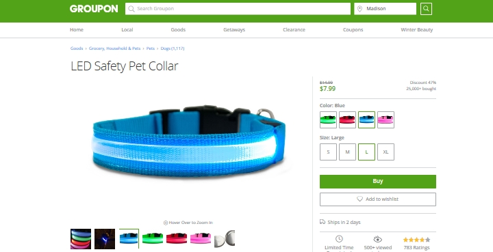 led-pet-collar