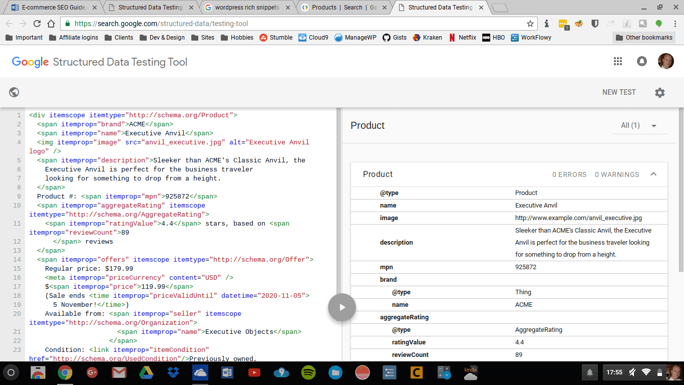 Rich Snippets code