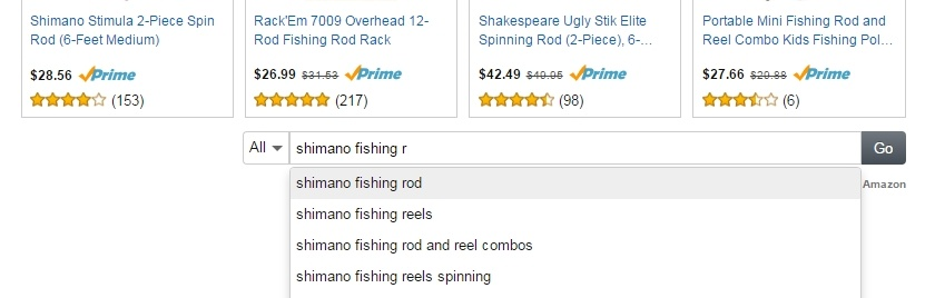 amazon native ads search in action