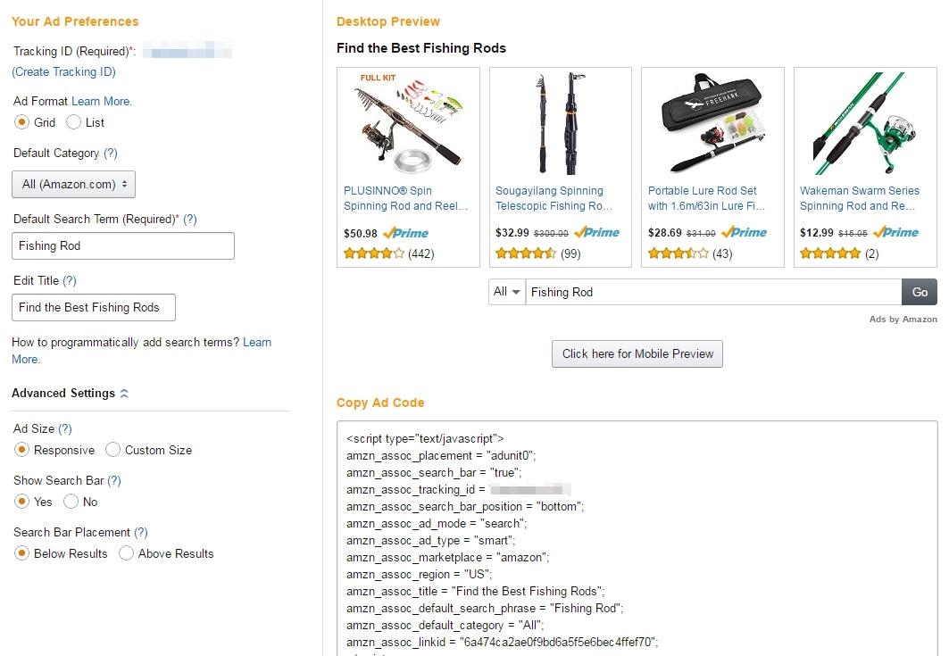 amazon native ads search