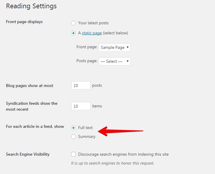 Excerpt setting in WordPress