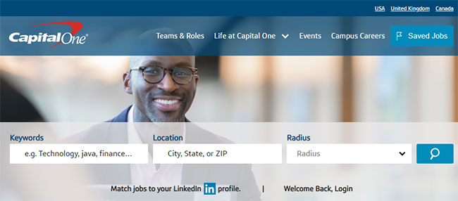 Capital One work from home