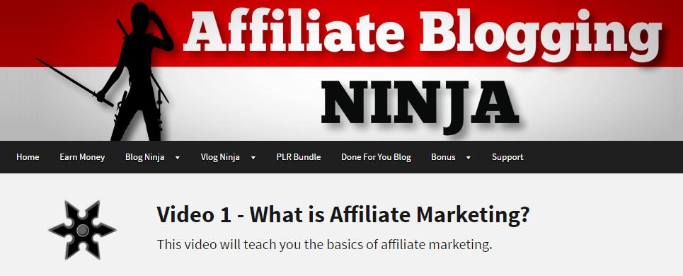 Inside Affiliate Blogging Ninja