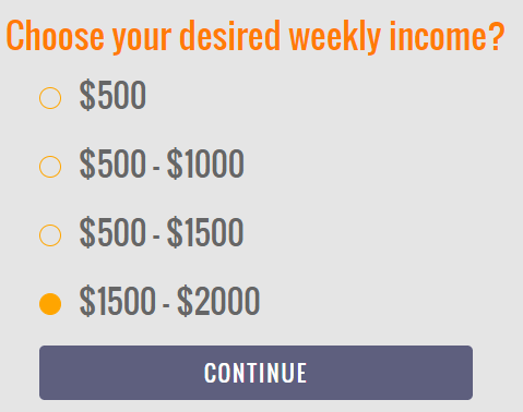 MyHomeJobConnection desired income