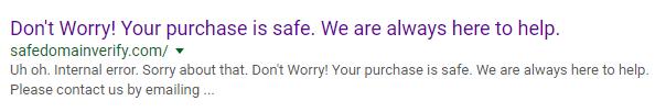 My Secret Sites safedomainverify google