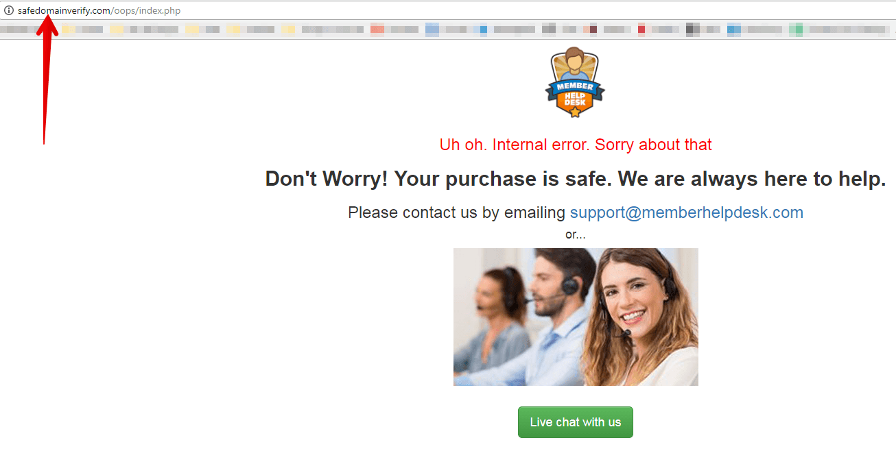 My Secret Sites safedomainverify oops