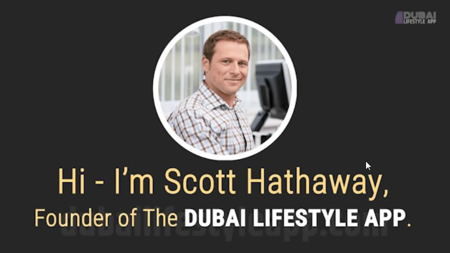 Dubai Lifestyle App scott hathaway