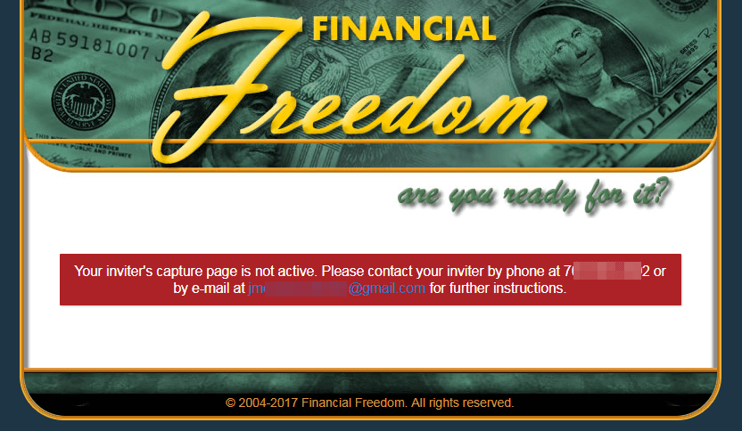 Financial Freedom Sites failed sites