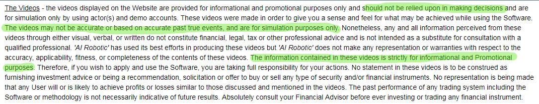 TAI Robotics terms