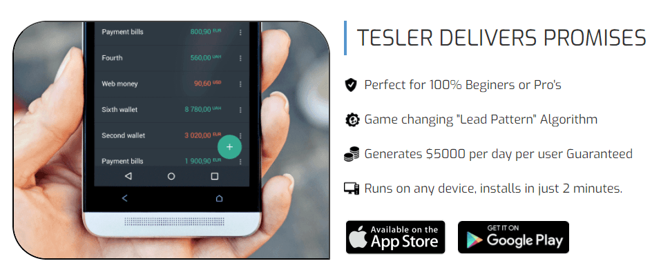 Tesler App is not an app